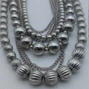 Premier Designs Silver Graduated Beads Chains